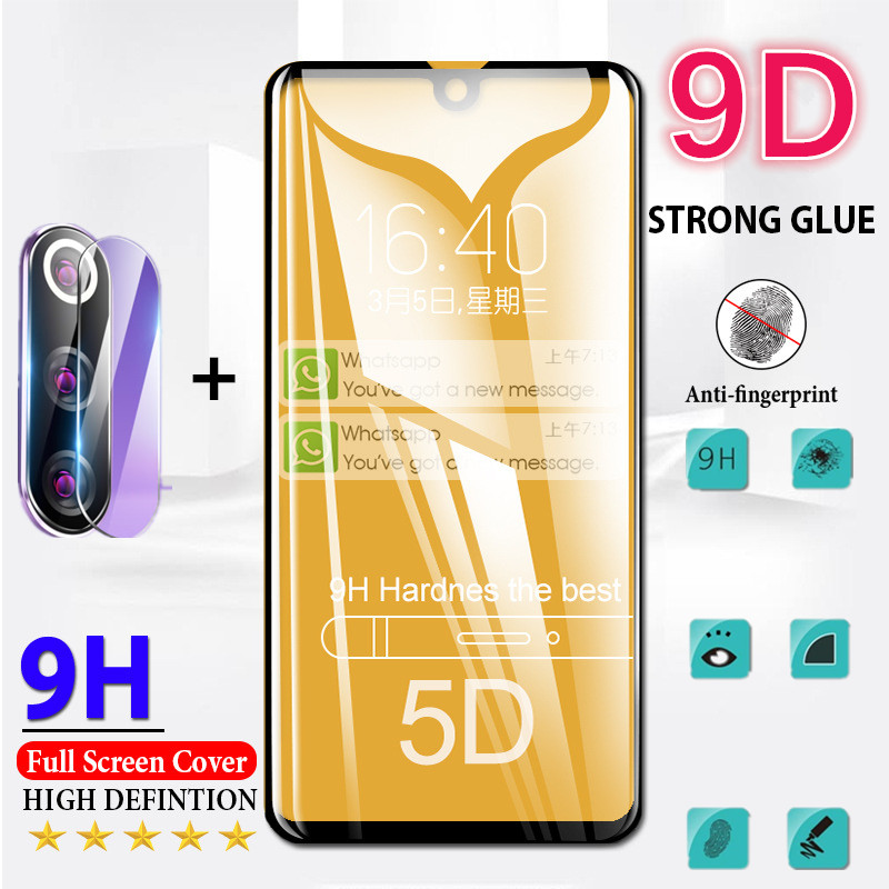 9D 2 In 1 Full Cover Tempered Glass For Redmi 7 8 7A 8A Note 7 8 Pro 8T Xiaomi A3 Lite Cc9 Pro Protective Screen Protector Film
