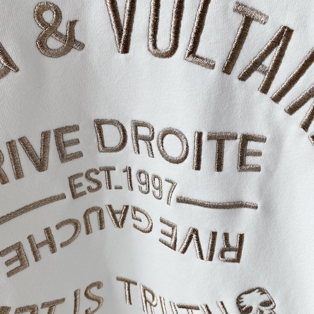 2021 French Chic 100% Cotton Women Pollovers Hoodie Letter Embroidery Green/Black/white O-Neck Loose Long Sleeve Sweatshirt 5