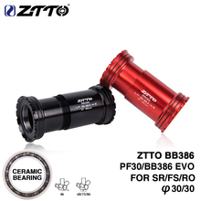 ZTTO BB386 CERAMIC 30mm PF30 EVO Bicycle Bottom Brackets Press Fit Axis for MTB Road bike Parts BB 30 Crankset chainset