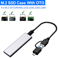 Чехол M.2 NVME SSD на USB 3,1, 10 Гбит/с, двухпротокольный корпус M2 NVMe NGFF для M2 NVMe PCIe SSD NGFF SATA HDD, адаптер с OTG
