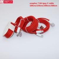 Original OnePlus Warp Kabel 1M 1,5 M 2M 3M runde USB Typ C Schnelle Lade Daten 6A kabel Für Oneplus 7Pro/7/6T/6/5T/5/3T