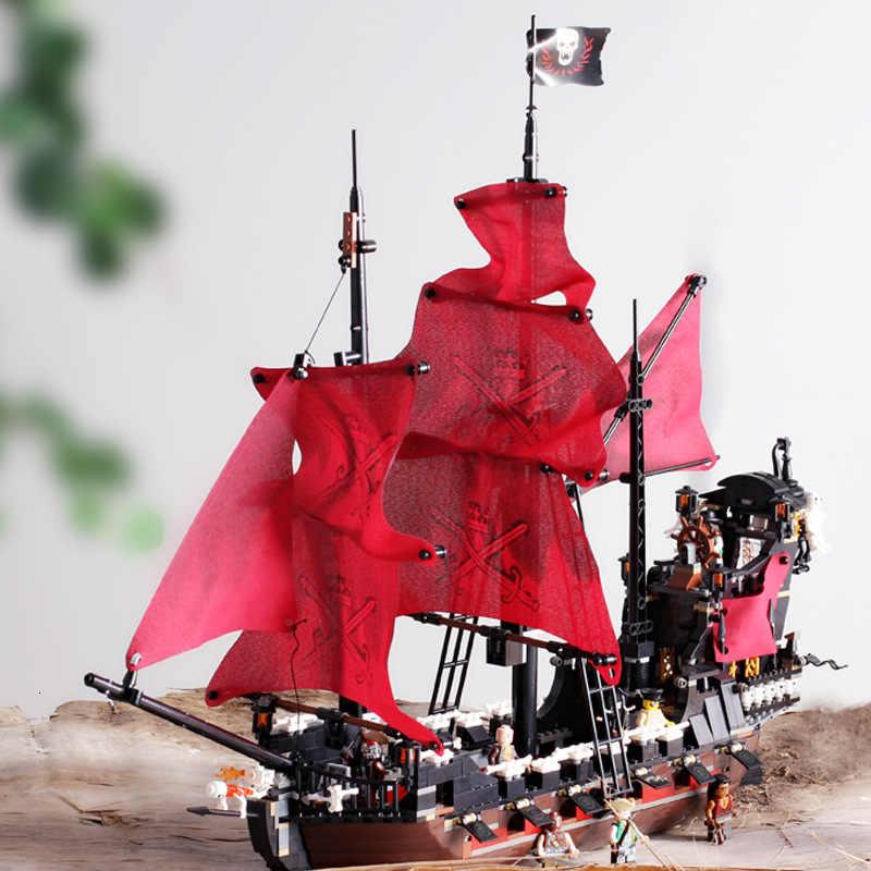 New Black Pearl Modello di Nave Building Blocks Compatibile Legoingly Pirati Navi Dei Caraibi Blocchi di Figure Regali Di Compleanno Giocattoli Per Bambini
