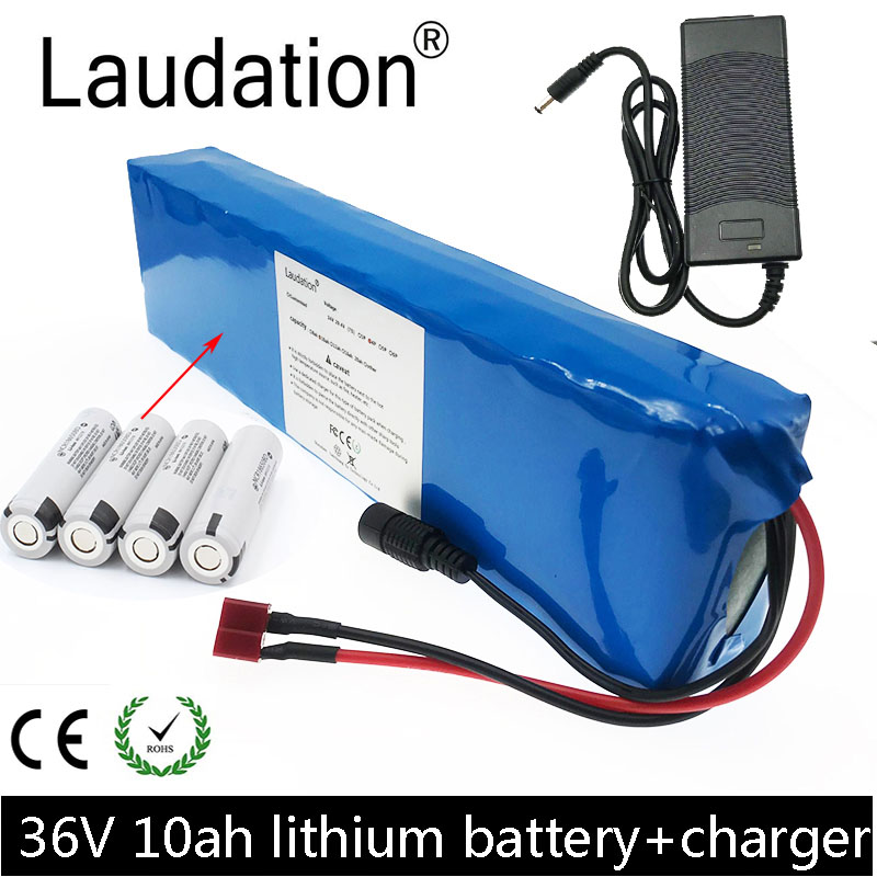 Laudation 36V 10ah Electric Bicycle Battery Pack 36V 18650 Battery Pack 500W High Power And Capacity Motorcycle Scooter With BMS