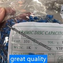 100pcs/lot high voltage ceramic capacitor 1KV 101/102/103/152/222/331/472/681M 1000V ceramic