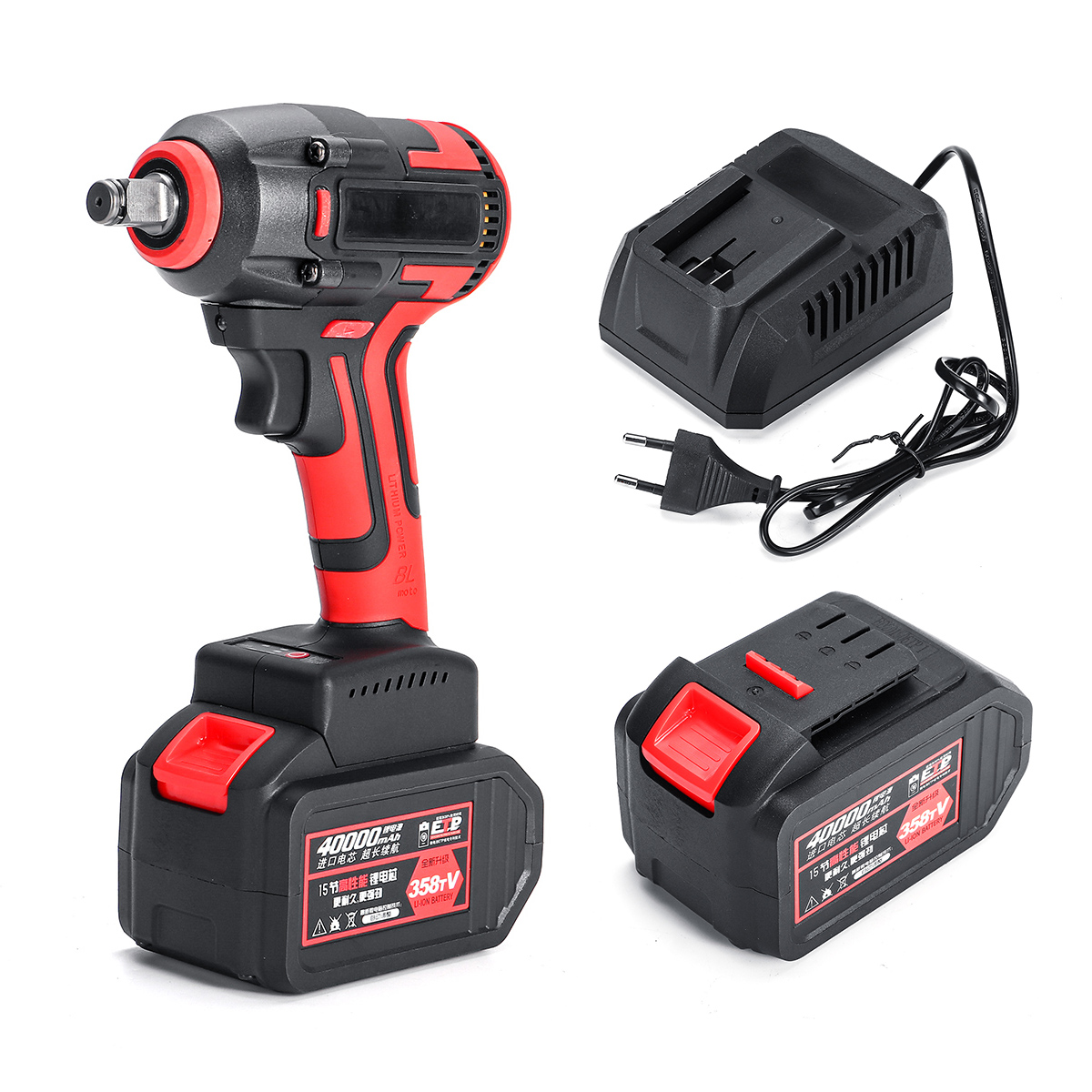 Doersupp 358tV Electric Wrench Brushless Brushless Impact Wrench 680Nm Torque Drill 40000mah With LED Dril Installation Tools