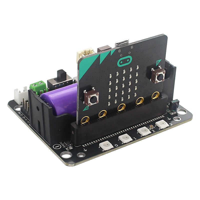 Плата расширения Robotbit для Micro: Плата расширения бит для Kittenbot поддержка литиевой батареи 18650