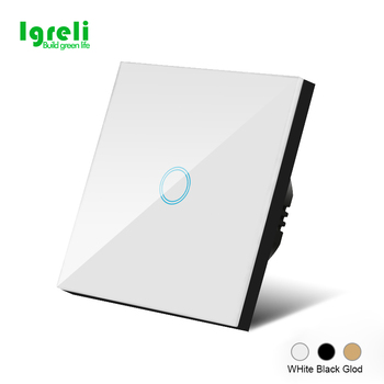 Igreli LED Light Touch Switches  Luxury Wall Touch Sensor Switch Power 1/2/3 Gang 1 Way AC 220 3pcs lot 1 3 way home light on off touch sensor switch touch control sensor dimmer for bulbs lamp light switches ac 110v 220v