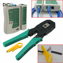 RJ45 RJ12 RJ11Portable Wire Stripper Pliers Computer Telephone Line Crimping Cutter Networking Cable