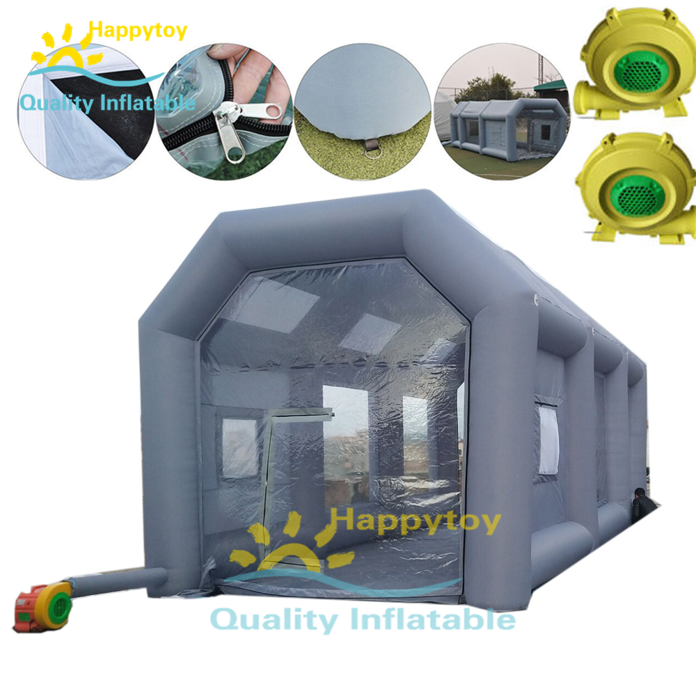 Durable Portable Car Painting Booth Inflatable Paint Tent For Sale