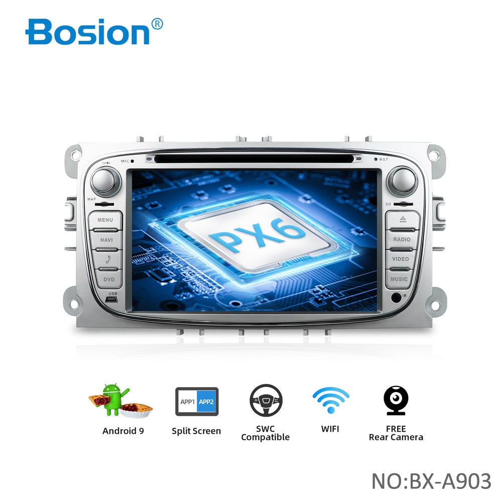 Bosion 2 din Android 10 Auto DVD-Multimedia-Player für Ford/Fokus Mondeo S-MAX C-MAX Galaxy 4G 64G radio 2din GPS Navi stereo pc