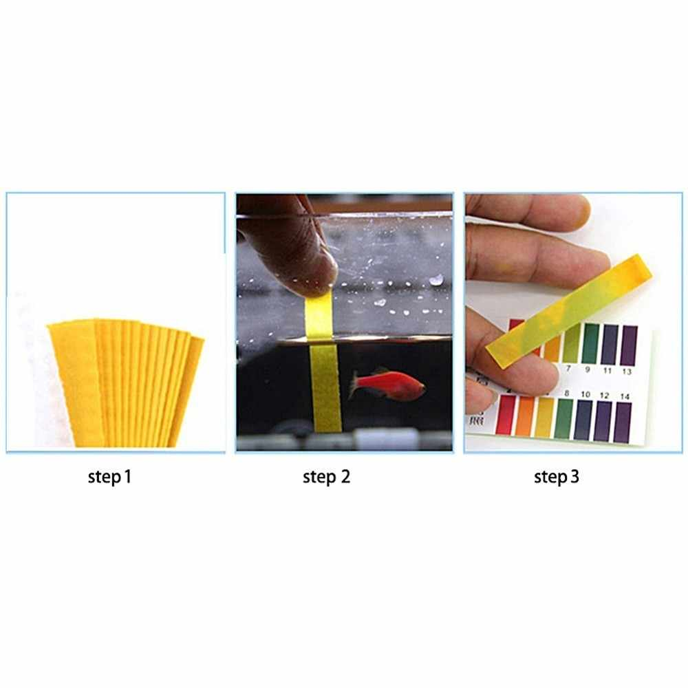 Aquarium Water Ph Teststrips Universal Full Range Lakmoespapier 1-14 Zuur Alkalisch Indicator Voedsel Urine Lab Bodem body Tester