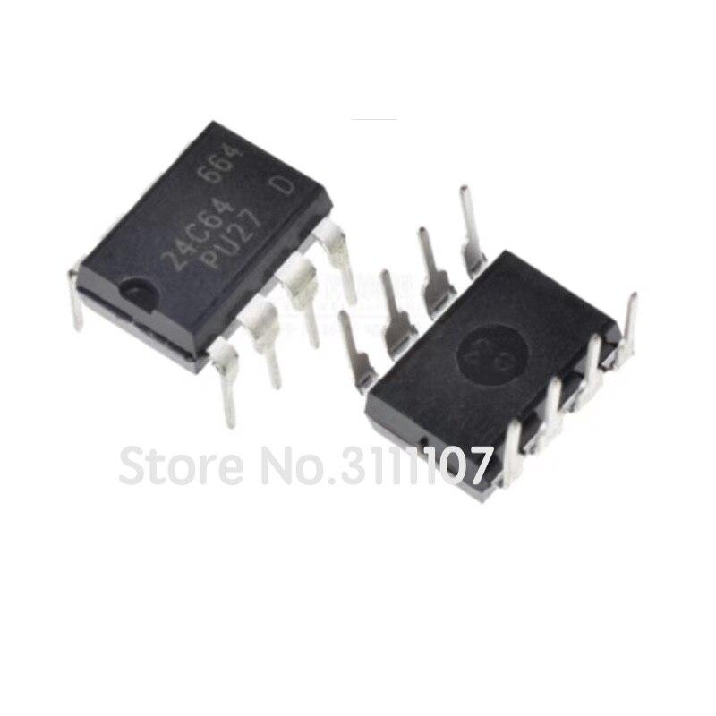 10 шт./лот 24C64 DIP8 AT24C64 AT24C64N Chip Integrate DIP-8 NEW