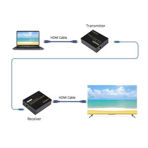 Image 5 - Hdmi extensor de sinal de rede extender 120 metros rj45 para hdmi HD Suporte um lançamento receber uso múltiplo