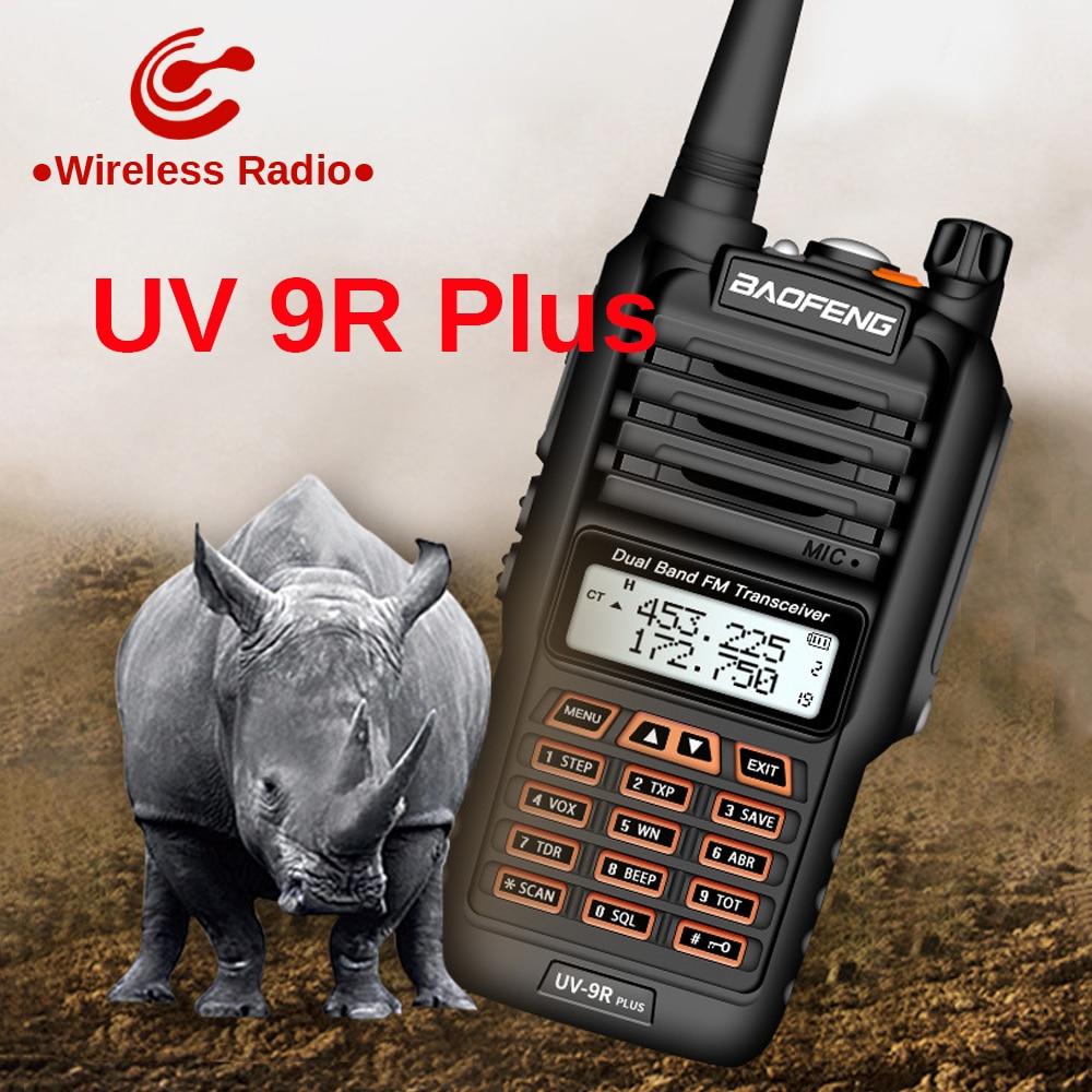 Baofeng UV 9R Plus рация 10-50 км дальность действия 15 Вт 18 Вт двухстороннее радио baofeng vhf uhf uv9r plus ham радио CB радиостанция
