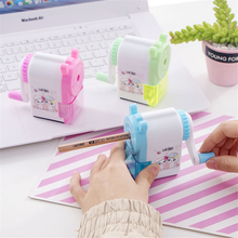 1Pcs Cute Korean Style Hand Crank Mechanical Accessory Sharpener Plastic Pencil Sharpeners Office School Supplies Stationery