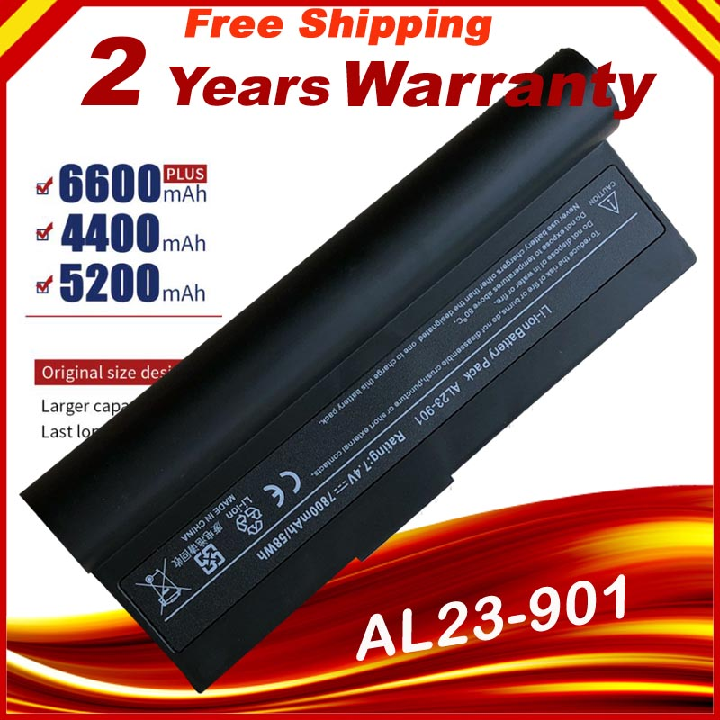 Laptop Battery AL23-901 AP23-901 AP22-1000 For Asus Eee PC 1000 1000H 1000HA 1000HD 1000HE 1000HG 901 904HD Fast Shipping