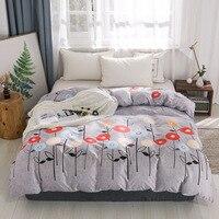 Dekbedovertrek Cartoon Bloemenprint Bed Cover voor Kids Volwassenen Enkel Dubbel Bed Slaapkamer Gebruik XF709 (geen kussensloop)|Dekbed overtrek|Huis & Tuin -