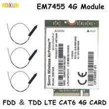 Wwan em7455 lte 4g ngff módulo fdd/tdd lte 4g cat6 gobi6000 para portátil 300mbps