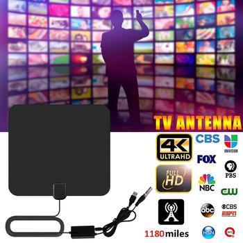 1180 mil 4K cyfrowa wewnętrzna Antena telewizyjna HDTV ze wzmacniaczem wzmacniacz sygnału promień TV Surf Fox Antena HD TV anteny Antena tanie i dobre opinie Rondaful