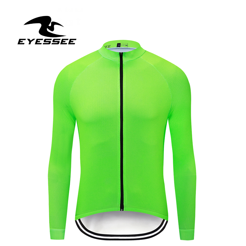 Cycling Jersey Long-Sleeve Ciclismo Team-Ropa Pro MTB EYESSEE Men Men's Pure-Color