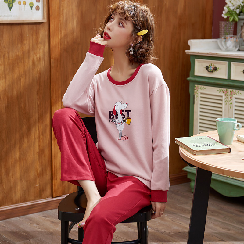 Pajamas Tracksuit Winter-Outerwear Cotton Long-Sleeve Autumn Cute And Spring Korean-Style