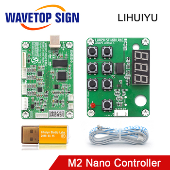 WaveTopSign LIHUIYU M2 Nano Laser Controller Mother Main Board+Control Panel + Dongle B System Engraver Cutter DIY 3020 3040 K40 - discount item  5% OFF Machinery & Accessories