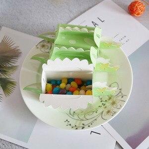 Image 5 - Вечерние коробки для печенья с динозавром, синие и зеленые коробки для конфет, 10 шт.
