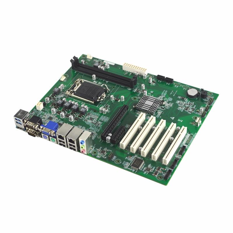 EAMB-1521 Промышленная материнская плата ddr3 i3 i5 i7 2 * PCIE 2 * LAN 5 * PCI 6 * COM