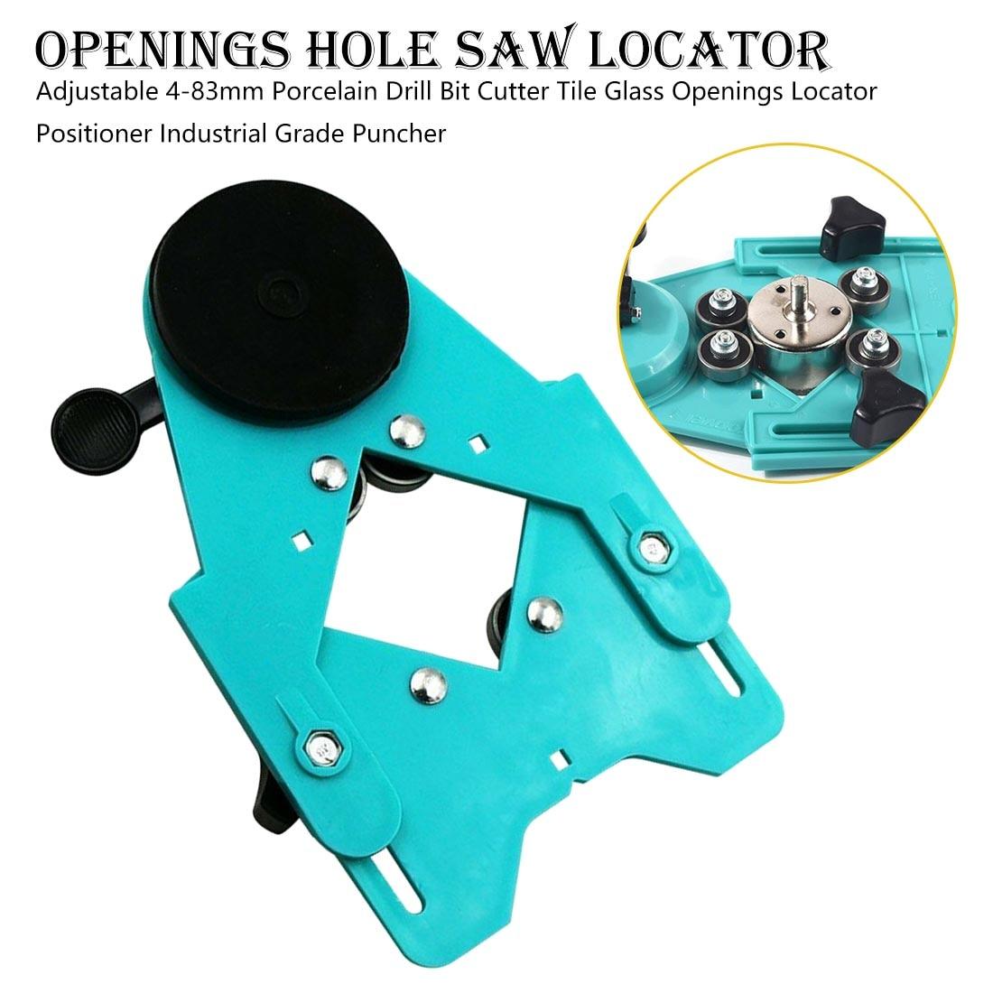 Pocket Hole Jig 4-83mm Porcelain Drill Bit Cutter Tile Glass Openings Locator Positioner Industrial Grade Puncher Corner Clamp