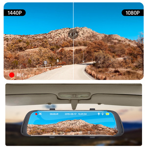 Image 3 - E ACE車dvr 2 18kストリームメディアバックミラータッチfhd 1080 720pデュアルレンズビデオレコーダーナイトビジョン自動registrator dashcam