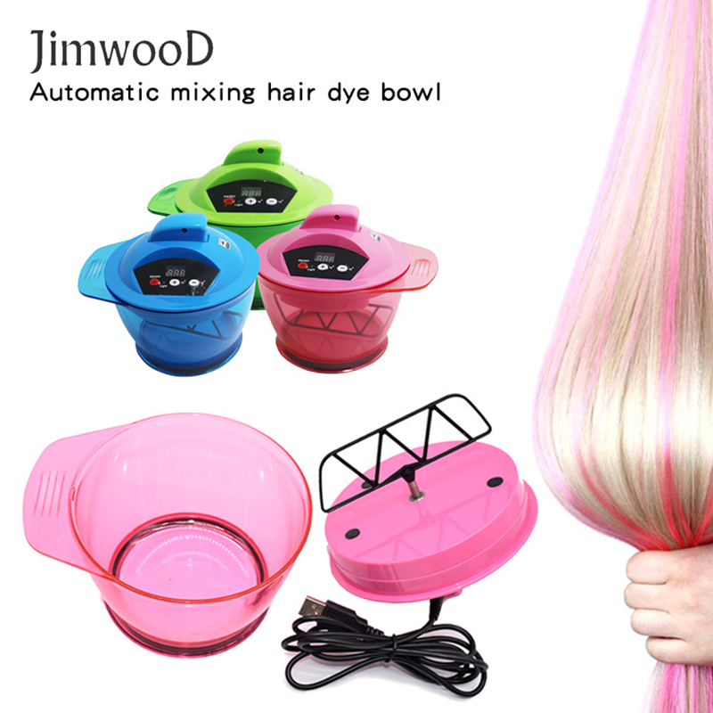 1pc Electric Professional Coloring Bowl Automatic Hair Cream Mixer Salon Hair Electric Color Mixing Tool Hair Dyeing Shaker