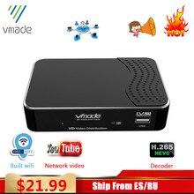 Vmade 2020 récepteur numérique DVB T2 tterrestre recevoir full HD 1080P DVB T2 H.265 décoder prise en charge WIFI youtube TV box