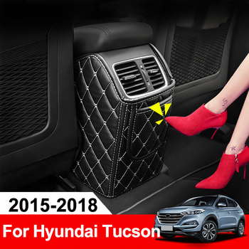Car Back Seat Armrest Box Cover Protection Pad for Children Baby Kicking Mat For Hyundai Tucson 2015 2016 2017 2018 Accessories car armrest cover kick pad back seat protection mat children anti kick for kia sportage 4 2016 2017 2018 2019 2020 accessories