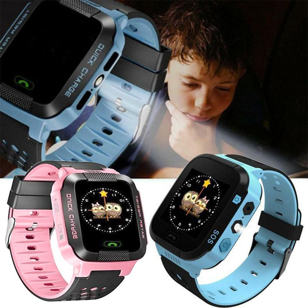 Children's Phone Watch Y21S dark Touch camera learning light Kids Smart Watch Phone For Girls Boys Gps Locator Pedometer Tracker