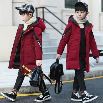 Baby thick warm down jacket coat jacket boy cotton boy clothes fashion hooded jacket long cotton jacket boy cotton coat jacket фото