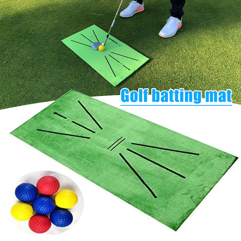 Golf Training Mat for Swing Detection Batting Golfer Garden Grassland Practice Training Equipment Mesh Aid Cushion Golf Tool