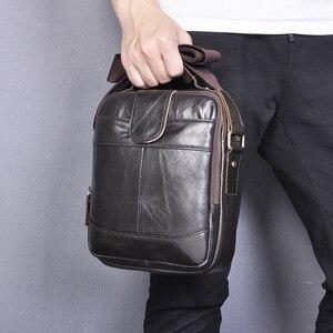 Качественная мужская дизайнерская повседневная сумка-мессенджер через плечо из натуральной кожи, модная мужская сумка Mochila 9,8