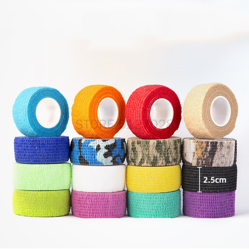 1pc Sport Self Adhesive Elastic Bandage Wrap Tape 2.5cm X 4.5m Elastoplast For Knee Support Pads Finger Ankle Palm Shoulder