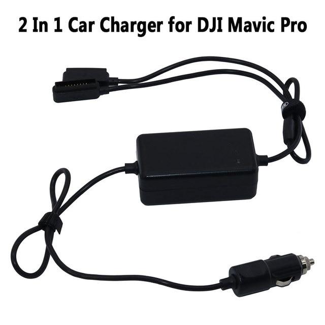 2 In 1 Car Charger สำหรับ DJI Mavic Pro Platinum Drone แบตเตอรี่แบบพกพา Smart Travel รถ Charger DUAL OUTPUT ชาร์จ