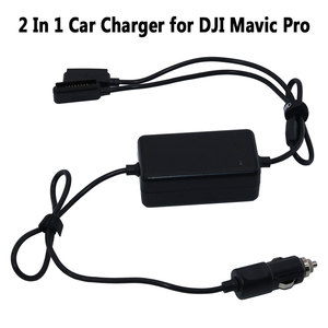 Image 1 - 2 In 1 Car Charger for DJI Mavic Pro Platinum Camera Drone Battery Portable Smart Travel Vehicle Charger Dual Output Charging