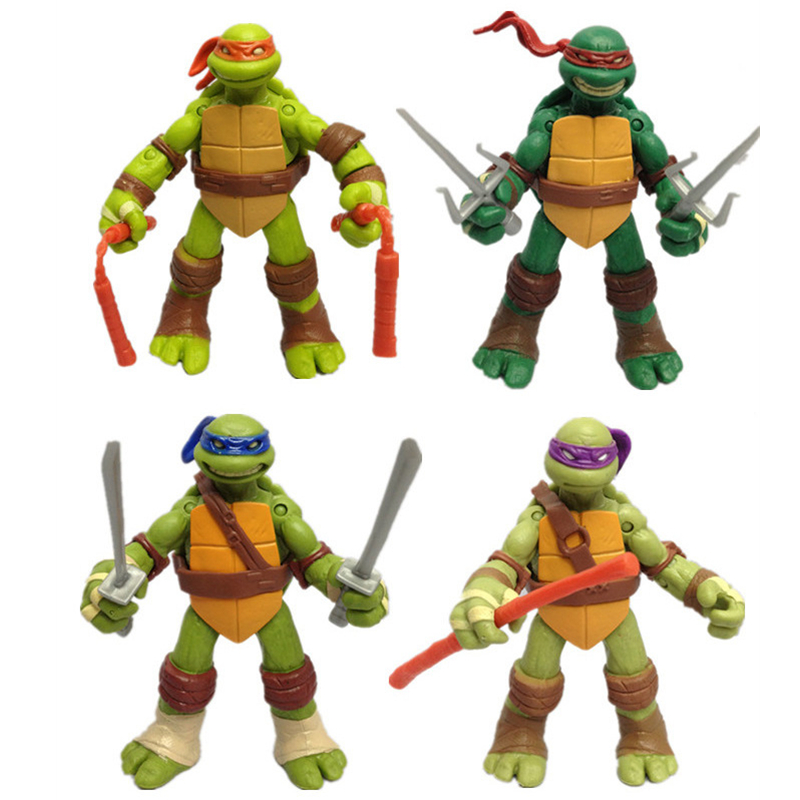 12cm 4pcs/set Turtlesing Toy The Joints Can Mover Freely Ninja Doll Children's Day Gift Home Decoration  Teenages Mutanting