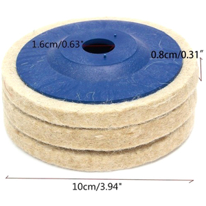 Image 3 - 100มม.ล้อขัดขัด Beige Buffing แผ่นบดเครื่องบดมุมล้อ Felt Polisher Disc สำหรับเซรามิคแก้วโลหะพลาสติก