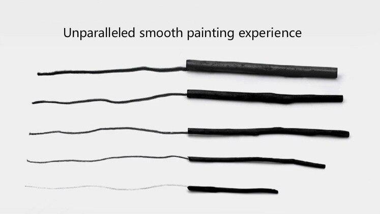 Эскиз живопись углеродный карандаш хлопок ива древесный уголь 5H черная полоса углерода дизайн «масляная живопись» пластиковые контейнеры для тату цилиндр
