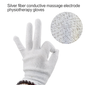 Image 5 - NEW Conductive Silver Fiber TENS/EMS Electrode Therapy Gloves+Socks+ Bracers + Cable Electrotherapy Unit For Phycical Therapy
