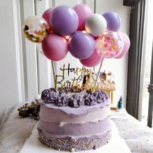 10pcs 5 Inch Metal Balloon Cake Topper Cloud Shape Confetti Balloons For Birthday Baby Shower Wedding Party Decor Home Supplies
