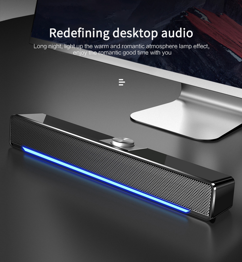 Bass Stereo Powerful Music Player USB Bluetooth Speaker Wired Computer Speaker  Subwoofer For PC Laptop Home Surround SoundBar
