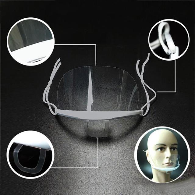 10PCS Reusable Transparent Mouth Mask Disposable Anti-fog Anti Saliva Mouth Shield for Catering Health Care Accessories 3