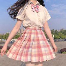 Coleção japonesa ortodoxo jk saia quadrada no estudante jk uniforme terno suave uma faca marinheiro saia plissada