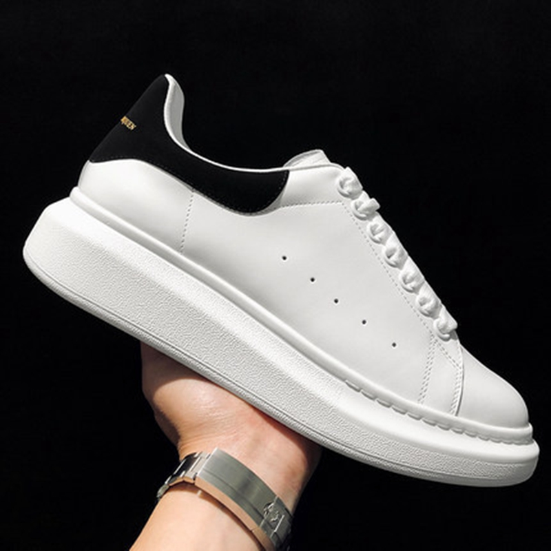 Luxury Design High Quality Men and Women White Shoes Woman Thick Bottom Platform Alexander Sneakers Casual Couple Shoes|Women's Flats| - AliExpress