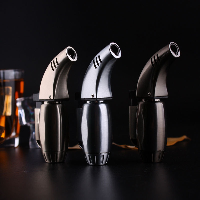 New Portable Spray Gun Metal Jet Lighter Torch   Windproof Gas Butane 1300 C Cigar Cigarette Lighters Smoking Accessory GL022
